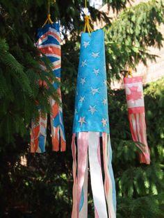 Fun Paper Flag Windsocks