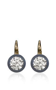 "zsazsasitlist: "" DESIGNER: SOTHEBY'S DIAMONDS SEE DETAILS HERE:  Diamond and Steel ""Halo"" Earrings The Halo Earrings from theSotheby's Diamonds collection each center a round brilliant cut diamond,..."