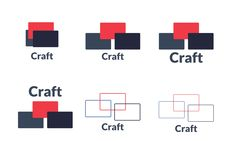 Playing around with a logo for Craft. Thought is that different screens meet.