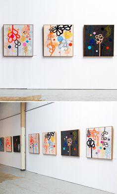 Sydney based, Rachel Castle - paintings on linen