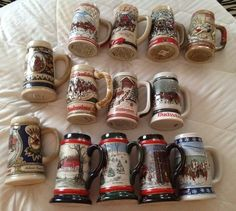 HUGE collection of Budweiser beer steins