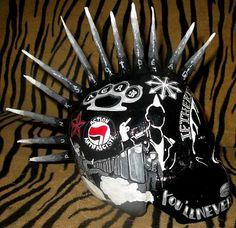 """ Punk and skin united skull "" - Cathy "" cat """