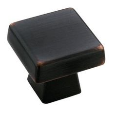 Amerock Blackrock 1 in. Oil Rubbed Bronze Square Cabinet Knob-BP55271-ORB at The Home Depot