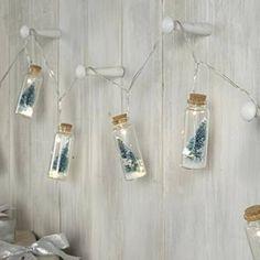 Hanging LED Mini Jar Christmas Lights