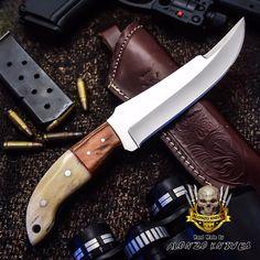 ALONZO KNIVES USA CUSTOM HANDMADE HUNTING CAMPING 1095 KNIFE CAMEL BONE 2832 #AlonzoKnives