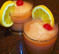 Lemonade + Orange Juice + Whiskey = A Frozen Whiskey Sour // Food.com - A warm weather delight!