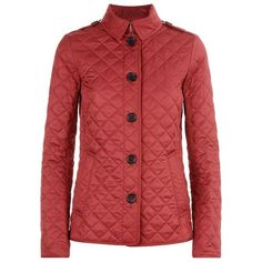 Burberry Brit Ashurst Quilted Jacket (€500) ❤ liked on Polyvore featuring outerwear, jackets, lightweight quilted jacket, diamond quilted jacket, padded jacket, tailored jacket and burberry jacket
