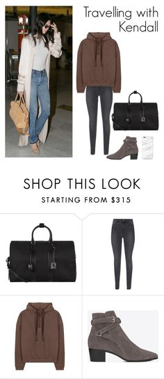 """""""At the airport with Kendall"""" by english-urban ❤ liked on Polyvore featuring Yves Saint Laurent, J Brand, adidas Originals, kendalljenner, perrieedwardsinspired, eleanorcalderinspired, KylieJenner and sophiasmithinspired"""