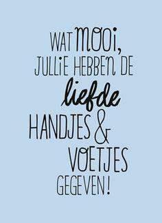 Wat mooi jullie hebben de liefde handjes en voetjes gegeven! #Hallmark #HallmarkNL #handjes #voetjes #geboorte #quotefulness #liefde