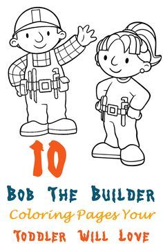 Preparing tools coloring pages for kids printable free Bob the