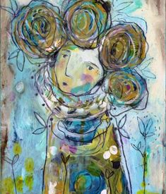 Tell Me Your Dreams Art Print by Juliette Crane - X-Small Online Painting Classes, Mixed Media Faces, Balance Art, Reading Art, Painting Workshop, Dream Art, Elements Of Art, Whimsical Art, Crane