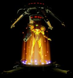 Metroid Prime Save Station. Somehow I always manage to get hit just inches away from these and die. -.-