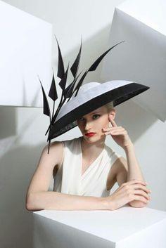 Philip Treacy London - Black and White Dome Sombreros Fascinator, Fascinators, Headpieces, Philip Treacy Hats, Black And White Hats, Wedding Hats, Free Wedding, Wedding Blog, Wedding Ideas