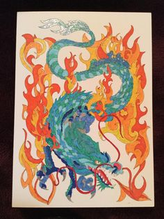 Tattoo Dragon Colored By Linda Pachter