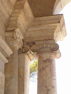 Roma, villa Giulia, particolare della loggia del ninfeo