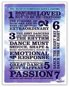 The 7 rules to understand #dance and #dancers.