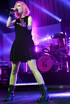 "Shirley Manson of Garbage performs during the band's ""20 Years Queer Tour"""