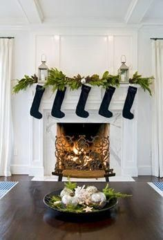 Black, white and green Christmas decor -- a fresh twist on tradition we love! Perfect for a contemporary or modern home.