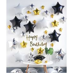 Birthday Party Decorations For Adults, Birthday Parties, Happy Birthday, Romantic Room Decoration, Monster Truck Birthday, Monster Trucks, Foil Balloons, Birthday Balloons, Balloon Decorations