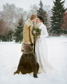 Siberian Wedding project. This bear doesn't help the stereotypes about Siberia.