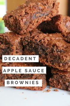These low fat brownies are made using cleaner alternatives to the classic favorite. You won't believe the taste! (apple sauce brownies, gluten free brownies, healthy brownies, low fat brownie reicipe)