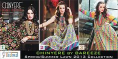 Pakistan's well-know clothing brand CHINYERE has launched its latest Spring/Summer 2013 lawn dresses collection nationwide recently. CHINYERE 2013 Spring/Summer dresses are beautifully designed with respect of quality, design and uniqueness of digital prints and embroidery work.