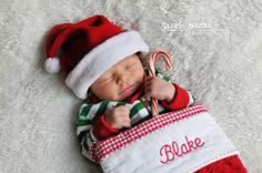 Cute first Christmas picture