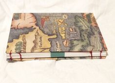 handmade Sketchbook bound with coptic stitch, hardcover, A5, 100 pages.  #handmade #bookbinding #book #paper #cover