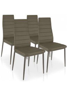 Lot de 4 chaises Beripo Taupe