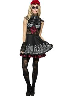 Adult Fever Day of the Dead Costume by Fancy Dress Ball