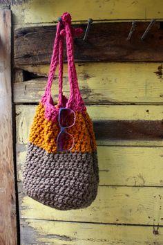 Market Bag in Raspberry Citrus