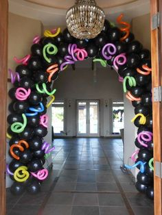 party Entrance for Camilles Party Neon Party Decorations, Birthday Decorations, Party Themes, Party Ideas, Neon Birthday, Birthday Party For Teens, 13th Birthday Parties, Glow In Dark Party, Glow Party