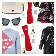 """""""winter to spring"""" by stacey-lynne ❤ liked on Polyvore featuring Miu Miu, Michelle Mason, Coach, Vetements, MSGM, Prada, Marni and McQ by Alexander McQueen"""