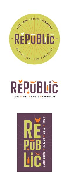 Logo design for Republic Cafe, a Mediterranean restaurant and cafe.