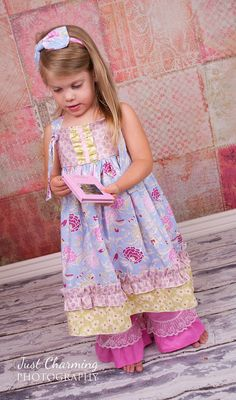 Fall Knot Dress Boho Mauve Girls Toddler by CharmingNecessities, $45.95