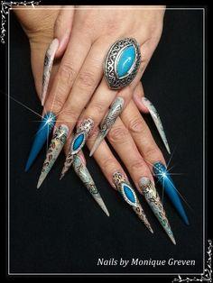 Stiletto nails nail acryl gel gelpolish nail art nailart
