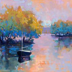 Quiet Anchor by Trisha Adams Oil ~ 36 x 36