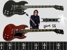 Gibson Tony Iommi SG guitars. The red ones are especially hard to find.