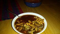 Mushroms with beans, a la Davidescu.