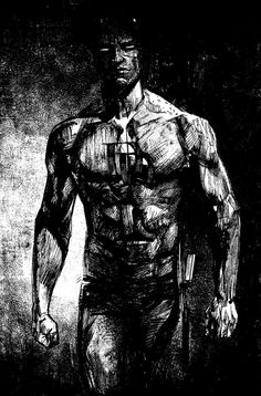 Daredevil by Alex Maleev. Yet another piece of evidence that Maleev should always illustrate Daredevil. Daredevil Punisher, Daredevil Artwork, Wolverine, Arte Dc Comics, Marvel Comics Art, Comic Books Art, Comic Art, Book Art, Stan Lee