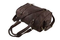 ROCKCOW Men's Genuine Leather Duffle Large Travel Weekend Holdall