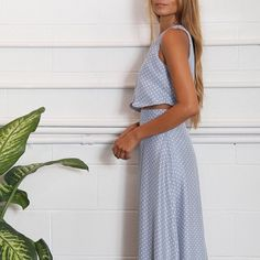 Flynn Skye TWO FOR ONE DRESS A two pieces attached together to make a one piece dress with a crop top and high waisted skirt. Pair it with some fun heels and you're good to go! SMALL IS SOLD OUT everywhere! Flynn Skye Dresses