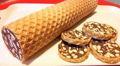 Ostyás keksztekercs - Powered by Waffles, Dessert Recipes, Chocolate, Cooking, Breakfast, Cake, Food, Merengue, Cookies
