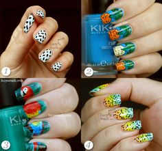 Creative nail art for long nails by Lucy's Stash.