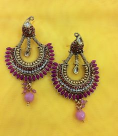 Zari & Zevar -Kundan Pink Earring for $29.99