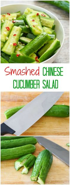 Smashed Chinese Cucumber Salad. A perfect summer side dish!
