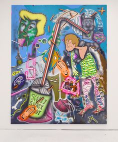2016 mixed media on canvas 200 x 160 cm. Mixed Media Canvas, Scooby Doo, Comic Books, Comics, Pattern, Art, Art Background, Patterns, Kunst