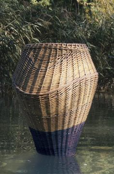 Water braid bouys designed by Sabrina Koning-Woud in The Biesbosch, one of the largest national parks of the Netherlands