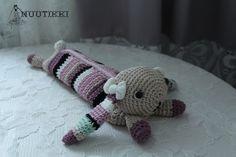 crochet bunny pencil case