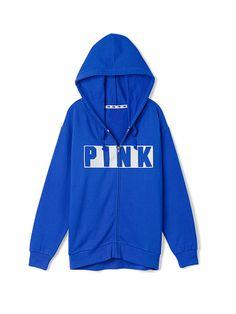 Gym Full-Zip Hoodie PINK   JQ-327-351 Blue-(2RD) Seafoam-(3T7) Coral-6VQ) BLACK-(6QK),WHITE-GP2